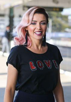 Dannii Minogue pink hair