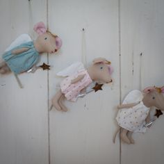 Delightful new fairy Maileg mice, complete with fluttery wings, crown and sparkly wand to wave her magic spell.