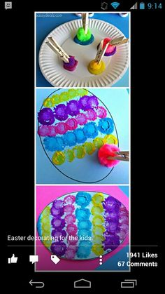 fabulous keep their fingers clean idea for Easter and other crafts!!!