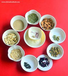 Thandai Masala Powder Recipe – How To Make Thandai Powder At Home Milk Powder Recipe, Masala Powder Recipe, Masala Recipe, Homemade Spices, Homemade Seasonings, Indian Desserts, Indian Sweets, Milk Recipes, Dessert Recipes