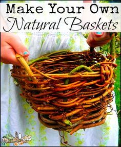 Make your own plant pots and baskets from natural materials with this simple tutorial - they make lovely gifts, too!