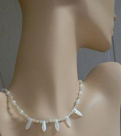 """Schimmernde Hochzeitskette mit originalen Glas Perlen von """"CzechBeadsExclusive"""""""