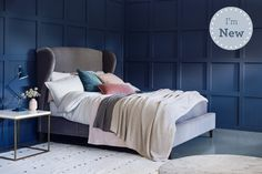 £1230 Winged Headboard Upholstered Bed | Penelope