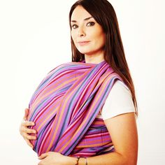 Stylish new baby carriers: Love the colors of this Fair Trade Babywearing Wrap by Hip Baby Wrap