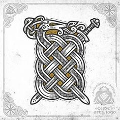 Sword & snake (workflow, vector, t-shirt concept) Меч викинга и змей - #celtic #celticart #sword #celticknot #ornaments #vikingsword #arzarz #emblem #swordart #celticartlogo #artwork #Arzamastsev #siberia #doodle #celticdesign #knotwork #vectorart #dragon #viking #line #art #illustration #linework #drawing #norse #vector #workprocess #workflow #vikingart #snake