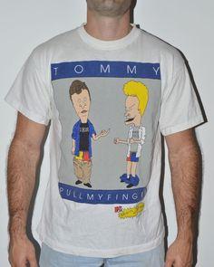 Vintage Tommy Hilfiger Beavis and Butthead T-shirt sz L