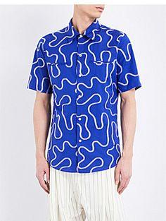 VIVIENNE WESTWOOD Rattle squiggle-print cotton shirt