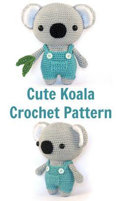 Amazing! Cute Koala bear amigurumi crochet pattern.