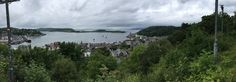 Scotland Oban panoramic wiew from McCraig's tower July 2016