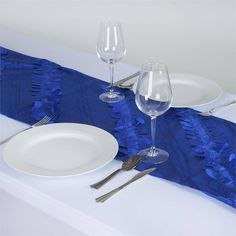 Paradise Forest Taffeta Table Runners - Royal Blue |  Nature, with all its serenity and comeliness has a tranquil effect on and mesmeric inspiration for monotony-stricken people. We experience soothing peace and calmness when in the company of Mother Nature. If you desire to spend your festive moments in coordination with the natural atmosphere and background, then we have just the thing for your quest. Our nature inspired beguiling Forest Taffeta runner is specially been crafted to caress…