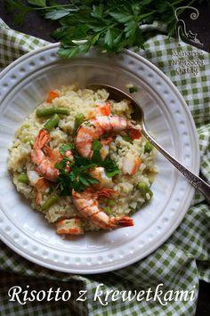 Kulinarne przygody Gatity: Risotto z fasolką szparagową i krewetkami