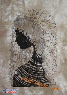 """""""Swahili Girl"""" screen print by Heidi Lange"""