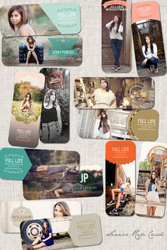 Live Your Life Senior Rep Card Collection Set of by frankandfrida, $25.00 7 cards millers specs