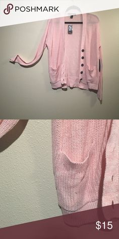 Forever 21 blush cardigan Blush. Has buttons. Two pockets. Long sleeve. Super cute. Loose. Cotton. Brand new Forever 21 Sweaters Cardigans