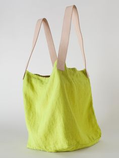 Linen & Leather Oversized Tote   Shop American Apparel