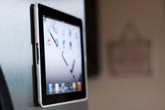 Magnetic iPad Holder - I NEED one of these for the fridge when I'm baking!