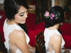Noiva - Bride - cabelo - hair - lateral - flor - natural - flower - oriental - Raoní Aguiar Fotografia - Bridal - Make up