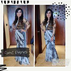 This Beauty wearing Polka Drape saree Pret fusion collection by #LabelNikhita @sonia_chawla_bedi_ . #drape #gown #fashionista #fashion #glam #styleblog #fashionstyle #fashionaddict #fashionable #fashionweek #fashiondesign #couturefashionweek #fashionlovers #fashiontrends#woman #glam #fashionideas #styleinspiration #fashiondairy #fashionpage #ootdshare #beauty #outfitpost #instafashion #dress #fashionable #womenwear #envywear #beautiful