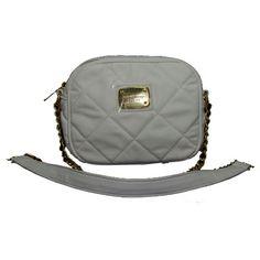 Michael Kors Hamilton Quilted Crossbody Bags Grey,$149