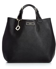 DKNY Handbag, Saffiano Leather Large North South Tote --- newest addition to my bags ♥♥♥