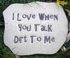 Humorous Garden Sign: Talk any time you want.