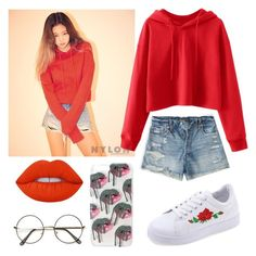 """""""Untitled #21"""" by kimtaehyungkim ❤ liked on Polyvore featuring Abercrombie & Fitch and Lime Crime"""