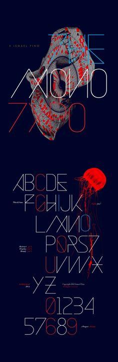 """O designer mexicano de Guadalajara, Ismael Fino, publicou no final de abril o projeto Monotypo, um mix entre tipografia e ilustração. A única descrição feita em seu portfólio é a citação da frase de James Victore, """"Don´t be a design zombie"""" – não seja um design zombie, em português.    Mais do trabalho dele pode ser encontrado no www.behance.net/yofino"""