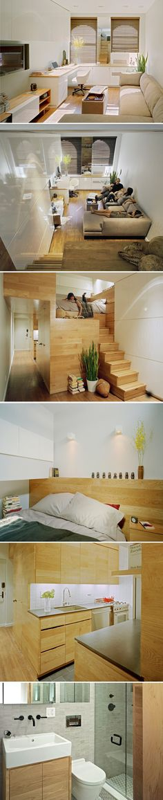 a tiny studio (500 sq ft). Incredible use of a very small space.