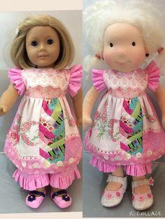 American Girl, Waldorf doll clothes, ARTSY, vintage-y by judysdollboutique on Etsy