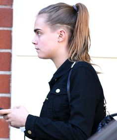 Despite her wild fashion sense, Cara Delevingne's hair has always been fairly safe - until she revealed an undercut this week. #cara #undercut #hairstyle