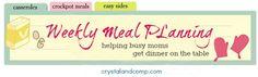 Weekly Meal Plan 148- Crock pot Beef Tips & Noodles, Crock pot Chicken Enchilada Soup and Apple Butter Pork Chops