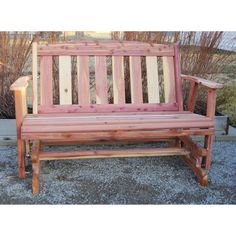 4 Ft Outdoor Patio Garden Glider Bench Loveseat In White Wood | White Wood,  Gliders And Patios