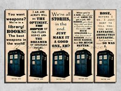 doctor who bookmarks | Request a custom order and have something made just for you.