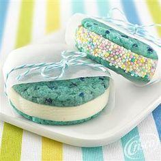 Mini Blue Raspberry Ice Cream Sandwiches from Crisco®