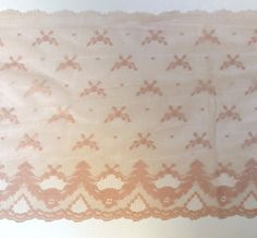 """60s Vintage Lingerie Lace TRIM Champagne  ~ 11 1/2"""" Wide 5.75 Yards ~ Nylon New Old Stock Scalloped Edging by chapeaunoir on Etsy #60sLace #VintageLingerie Nice piece of new old stock lingerie lace in champagne! This wide, delicately scalloped lace makes a great show on peignoirs and petticoats alike!"""