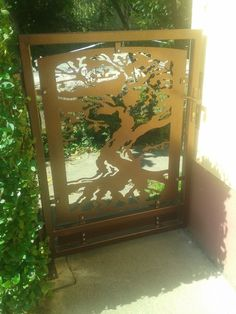 Small gate with laser cut tree of life ...