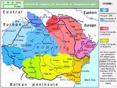Historical regions of Romania