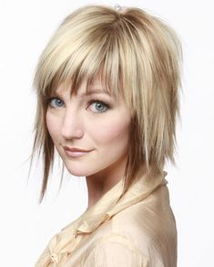 Blonde highlights for short hair styles