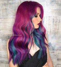 Purple and Teal Hair   #purplehair #hair