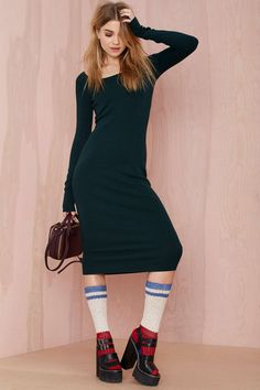 Nasty Gal Foxy Lady Ribbed Dress | Shop Dresses at Nasty Gal #streetstyle