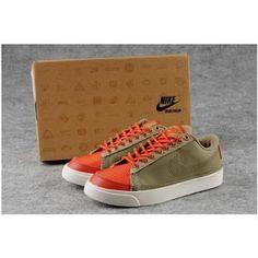 premium selection 195fa 31550 Women Nike Wmns Blazer Low Brown Coffee Orange Shoes
