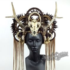 FAUC SKULL & ANTLER HEADDRESS https://instagram.com/p/3rAHJdAChl/?taken-by=missgdesigns