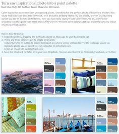 Turn any inspirational photo into a paint palette | Real Simple
