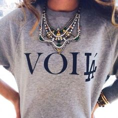 Sweat Shirt. Statement Necklace. Weekend Outfit.