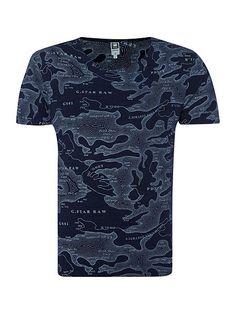Map print t shirt