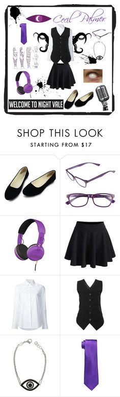 """""""Fem! Cecil Palmer (Welcome to Night Vale)"""" by fashion-yourself-20 ❤ liked on Polyvore featuring Corinne McCormack, Skullcandy, WithChic, Misha Nonoo, Netali Nissim, Lauren Ralph Lauren, halloweencostume, wtnv, welcometonightvale and DIYHalloween"""