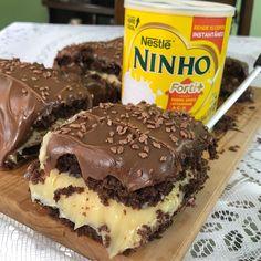 Siga @byigorhealthy para não perder nenhuma receita fácil e prática 😱😍 . Esse bolo trufado é muito úmido e tem um recheio de brigadeiro de…