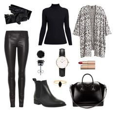 """Black street"" by wotrelovae on Polyvore featuring Helmut Lang, Rumour London, H&M, Office, Givenchy, Tommy Hilfiger, Charlotte Tilbury, BERRICLE, Bing Bang and Daniel Wellington"
