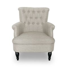 Have to have it. Baxton Studio Joussard Linen Club Chair - Gray - $431.99 @hayneedle