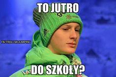 Skokami zaczęłam interesować się gdy skończyłam 8at od tej pory zawsz… #losowo # Losowo # amreading # books # wattpad Ski Jumping, Jumpers, Skiing, Winter Hats, Wattpad, Memes, Sports, Ski, Sport